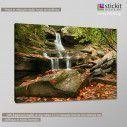 Autumn waterfall, πίνακας σε καμβά, κοντινό