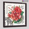 Γραμματόσημο ροδόδεντρο, πίνακας σε καμβά, κοντινό