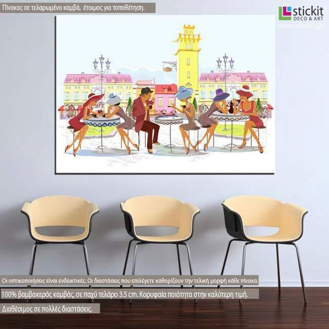 Πίνακας σε καμβά Small talk vector art