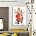Canvas print Traveling on a scooter