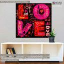 Canvas print Love vector art