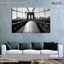 Canvas printNew York bridge, Brooklyn bridge view
