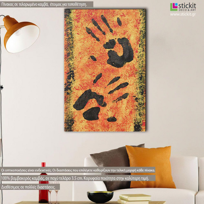 Canvas print Cave painting