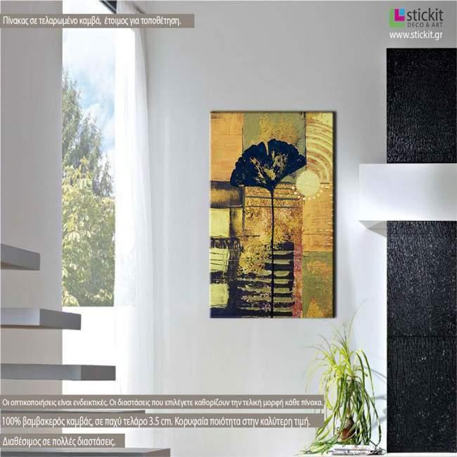 Πίνακας σε καμβά Παπαρούνα, Abstract poppy