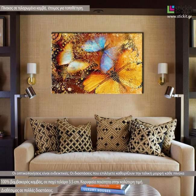 Πίνακας σε καμβά Πεταλούδα, Butterfly I artistic