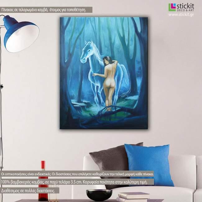Πίνακας σε καμβά Horse goddess