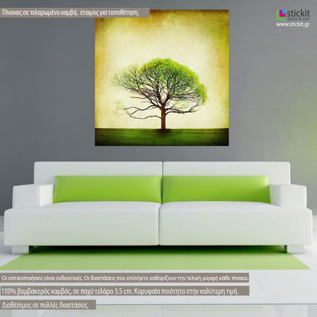 Canvas print Tree  From spring to summer