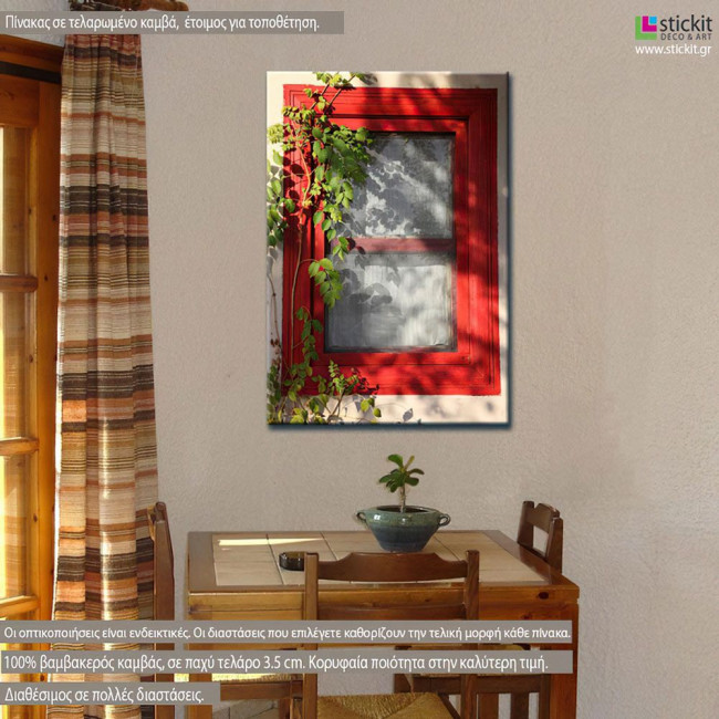 Canvas print Red window