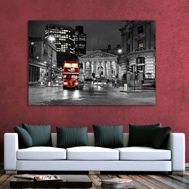 Πίνακας σε καμβά Λονδίνο, London bus