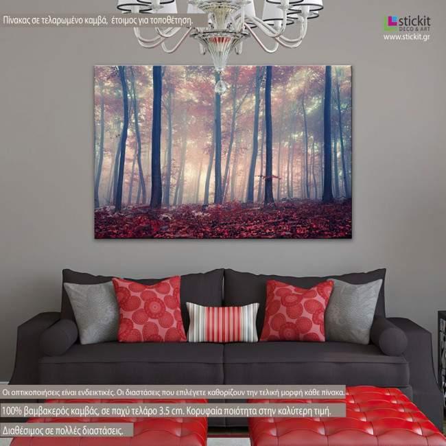 Πίνακας σε καμβά Δάσος, Mystic forest