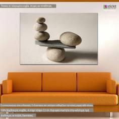 Canvas print Stones scale