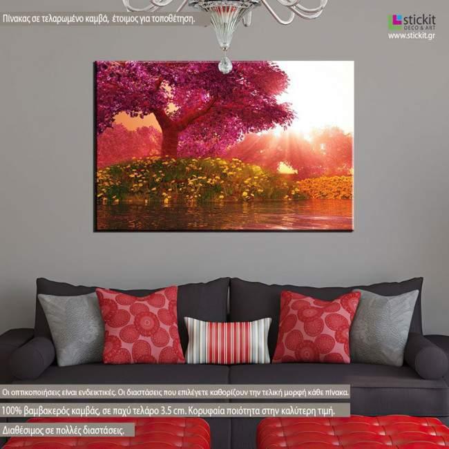 Πίνακας σε καμβά Ανθισμένη κερασιά, Mysterious cherry blossom