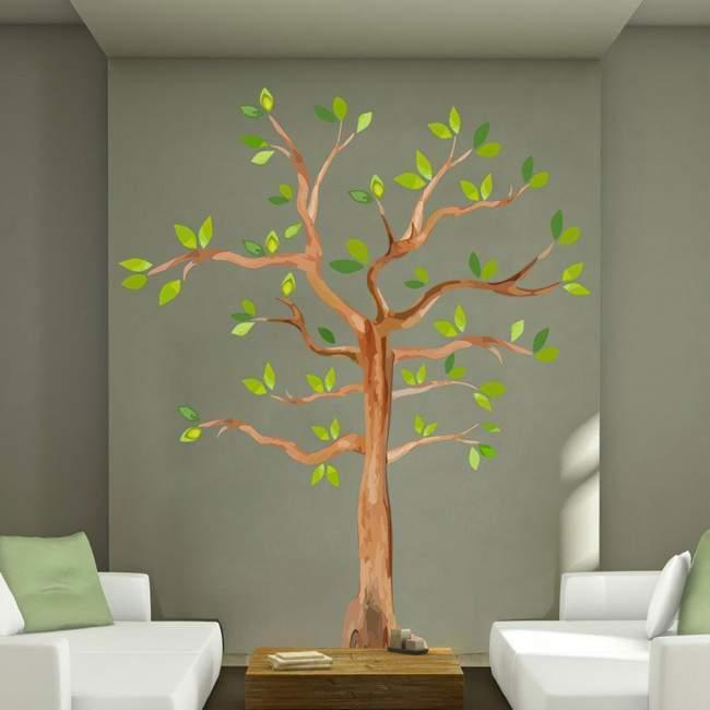 Αυτοκόλλητο τοίχου δέντρο ζωγραφισμένο, Watercolors tree