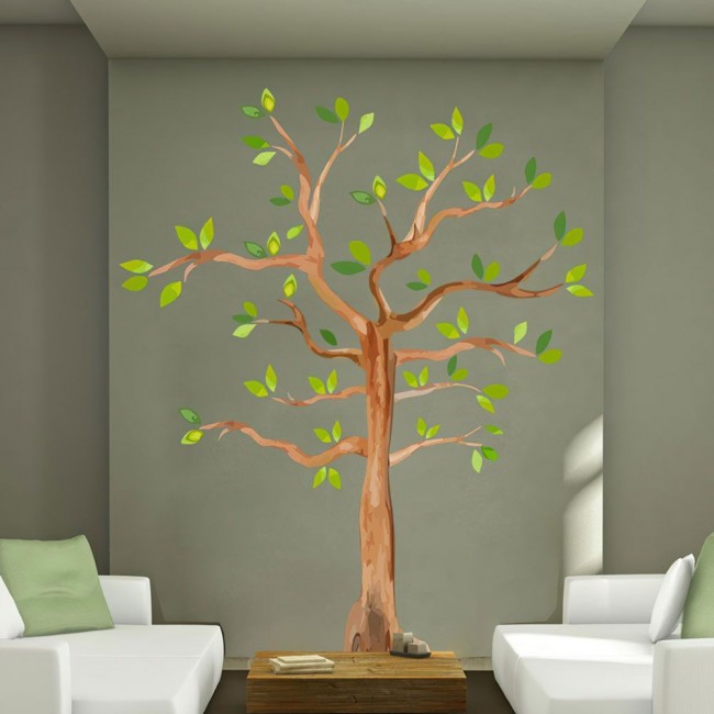Wall stickers Watercolors tree