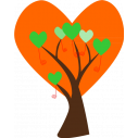 Wall stickers Tree from big hearts