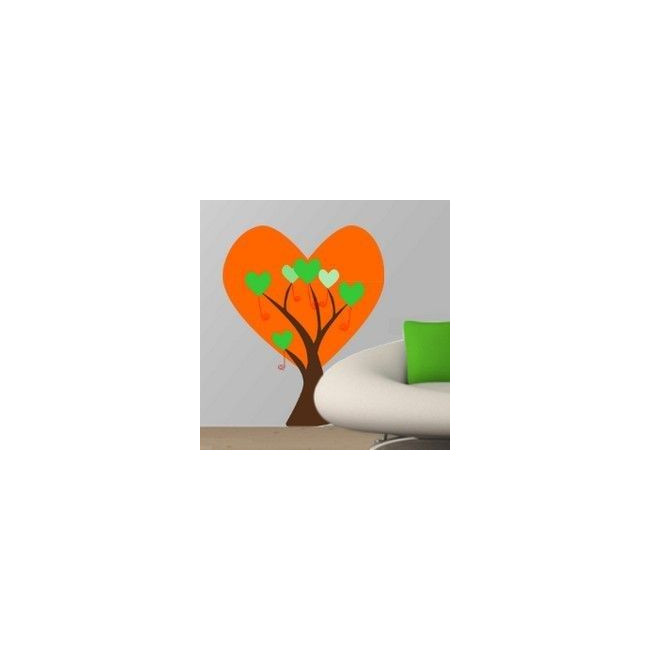 Αυτοκόλλητα τοίχου Δέντρο απο μεγάλες καρδιές