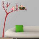 Wall stickers bird nest, Cute tree