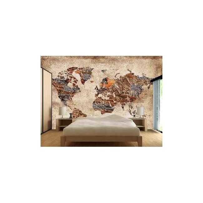 Ταπετσαρία τοίχου Textured world map
