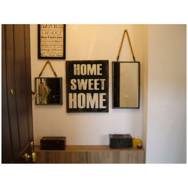 Home sweet home πινακίδα ξύλινη διακοσμητική