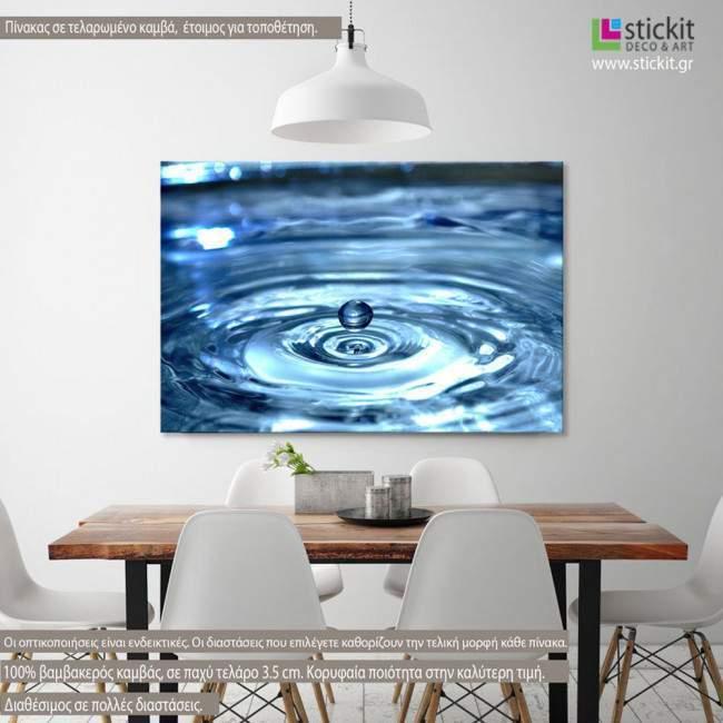 Πίνακας σε καμβά Water drops