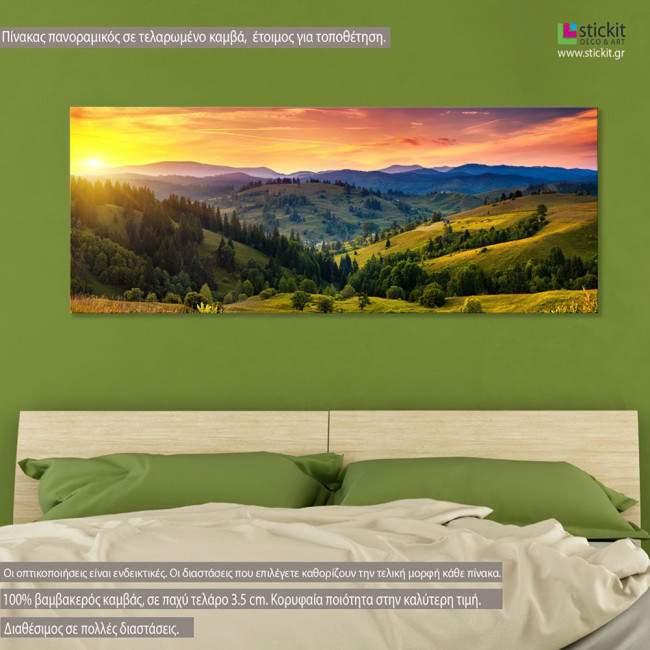 Πίνακας σε καμβά Mountain horizon, πανοραμικός