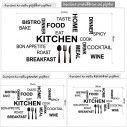 Kitchen quotes, αυτοκόλλητο τοίχου, λεπτομέρεια