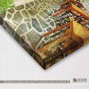 Σοκάκι στο νησί, πίνακας σε καμβά, λεπτομέρεια