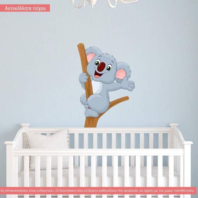 Αυτοκόλλητα τοίχου παιδικά Χαρούμενο Κοάλα