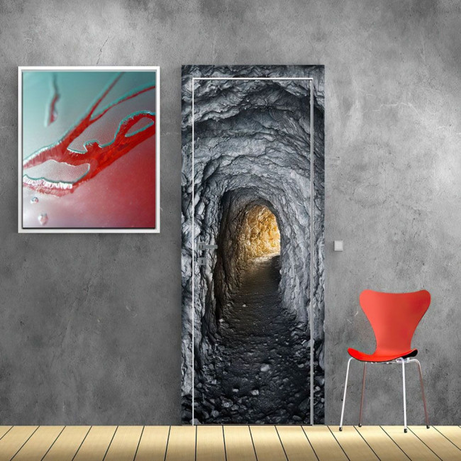Αυτοκόλλητο πόρτας Τούνελ στον βράχο