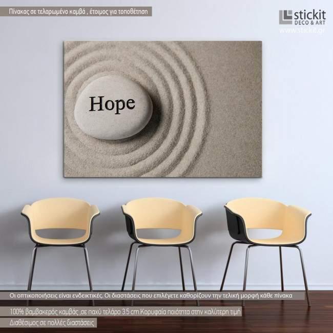 Canvas print Inspirational stones, Hope