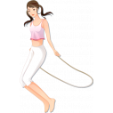 Wall stickers Gymnastics, woman jumping rope