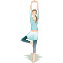 Wall stickers Gymnastics, woman exercising
