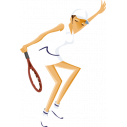 Wall stickers Woman playing tennis
