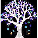 Lime tree, εναλλακτικά χρώματα, αυτοκόλλητο τοίχου, κοντινό
