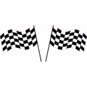Wall stickers Checkered flags