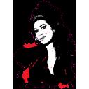 Amy Winehouse 1 | Αυτοκόλλητο τοίχου, κοντινό