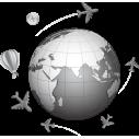 Ταξιδι στον κόσμο 2, αυτοκόλλητο τοίχου, κοντινό