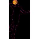 Μπασκετμπολίστας 2 Αυτοκόλλητο τοίχου , κοντινό