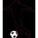 Ποδοσφαιριστής, αυτοκόλλητο τοίχου , κοντινό