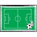 Γήπεδο Ποδοσφαίρου, αυτοκόλλητο τοίχου , κοντινό