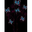 Δέντρο Με Πεταλούδες Αυτοκόλλητο τοίχου , κοντινό