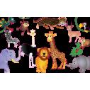 Συλλογή από ζωάκια της ζούγκλας, αυτοκόλλητα τοίχου