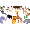 Kids wall stickers Collection of jungle animals