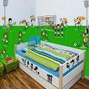Αυτοκόλλητα τοίχου ποδόσφαιρο μπάλες, εστίες, προβολείς. Μικροί ποδοσφαιριστές