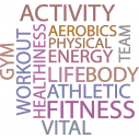 Wall stickers phrases. Fitness words