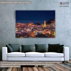 Πίνακας σε καμβά Νυχτερινό πανόραμα, Κέρκυρα