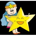 Kids wall stickers zodiac sign Virgo