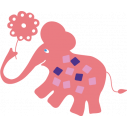 Kids wall stickers Pink elephant