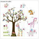 Kids wall stickers Cute Pink Africa