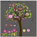 Happy owls, εναλλακτικά χρώματα 3 , παράσταση σε αυτοκόλλητα τοίχου